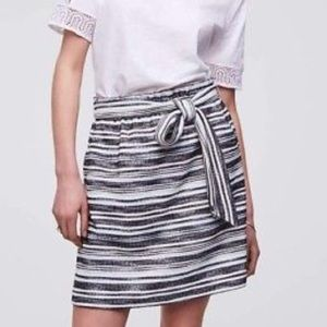 =LOFT=CASUAL MARBLED KNIT ELASTIC TIED SKIRT M